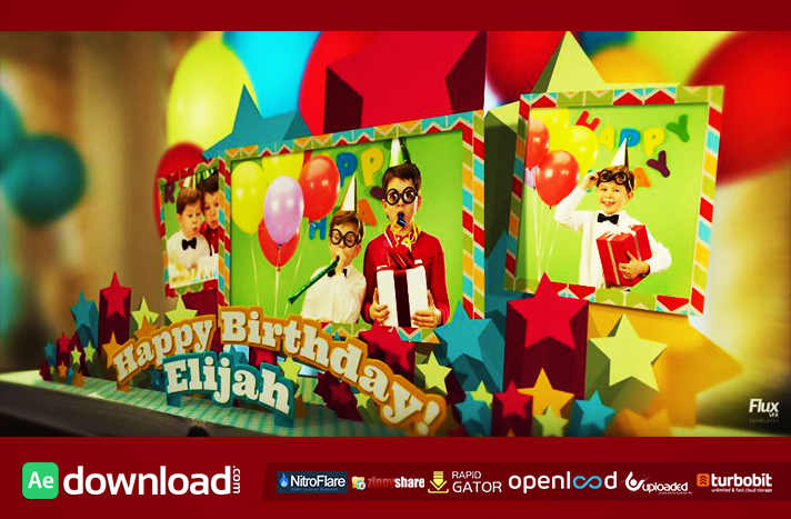 HAPPY BIRTHDAY POP UP BOOK - AFTER EFFECTS TEMPLATE (FLUXVFX) - Free ...
