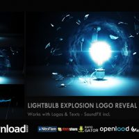 LIGHT BULB EXPLOSION LOGO REVEAL FREE DOWNLOAD VIDEOHIVE TEMPLATE