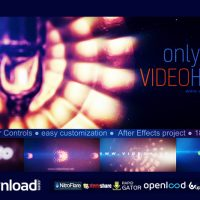 LIGHT GLITCH LOGO REVEAL FREE DOWNLOAD VIDEOHIVE TEMPLATE