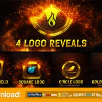 MAGIC GOLD PARTICLES LOGO REVEAL (VIDEOHIVE) FREE TEMPLATE