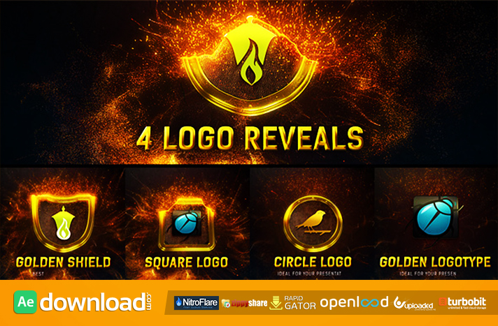 Magic Gold Particles Logo Reveal