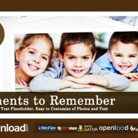 MOMENTS TO REMEMBER – FREE AFTER EFFECTS PROJECT (VIDEOHIVE)
