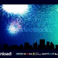 NEW YEAR CITY SKYLINE FREE DOWNLOAD VIDEOBLOCKS PROJECT