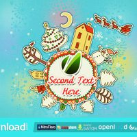 NEW YEAR ROUND ANIMATION FREE DOWNLOAD VIDEOHIVE TEMPLATE