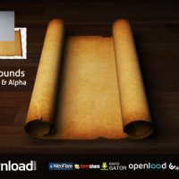 OLD SCROLL / PARCHMENT (BLANK) – MOTION GRAPHICS (VIDEOHIVE)