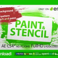 PAINT & STENCIL – FREE AFTER EFFECTS PROJECT (VIDEOHIVE)