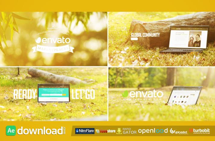 Promo Web Theme Service In Laptop