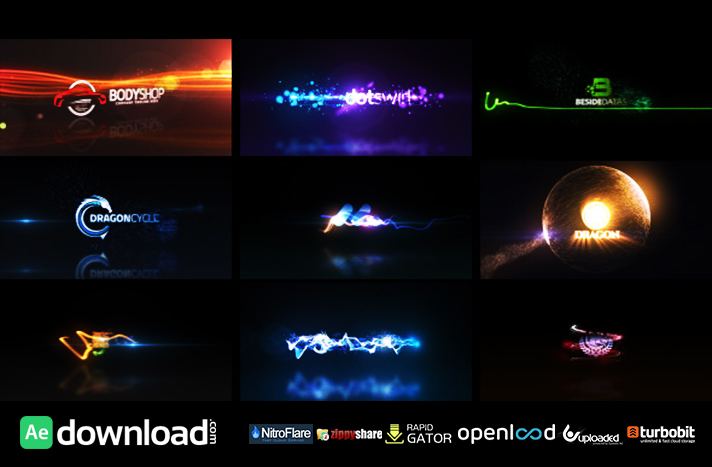 Quick Logo Sting Pack 04 Glowing Particles
