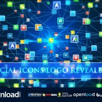 SOCIAL ICONS LOGO REVEALER FREE DOWNLOAD VIDEOHIVE AFTER EFFECTS PROJECT