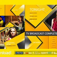 TV BROADCAST COMPLETE PACKAGE II – FREE DOWNLOAD AFTER EFFECTS PROJECT