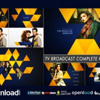 TV BROADCAST COMPLETE REBRANDING – FREE DOWNLOAD AFTER EFFECTS PROJECT