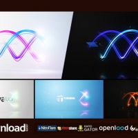 TWISTING STREAKS LOGO FREE DOWNLOAD VIDEOHIVE TEMPLATE