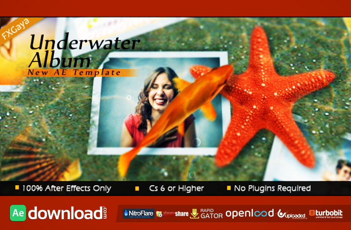 UNDERWATER ALBUM - FREE DOWNLOAD AFTER EFFECTS PROJECT (VIDEOHIVE