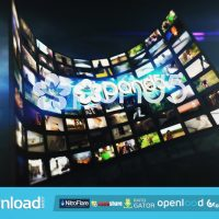 VIDEO WALL LOGO OPENER FREE DOWNLOAD POND5 TEMPLATE