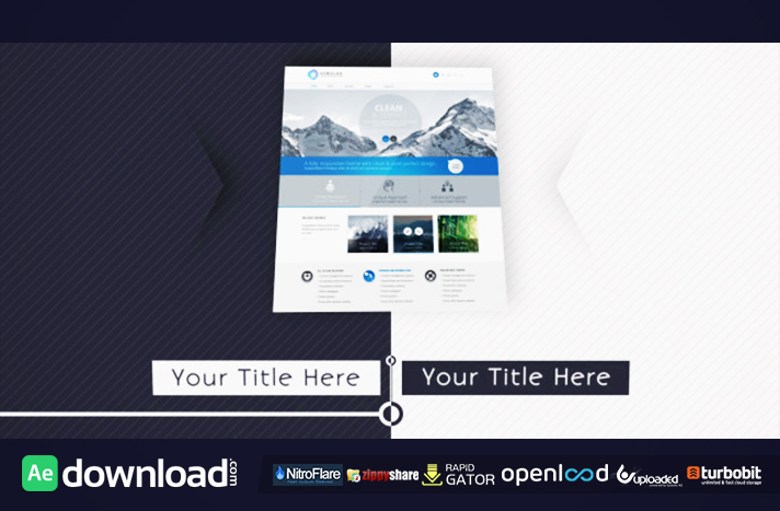 website presentation 2 - free after effects project (videohive, Presentation After Effects Template Free, Presentation templates