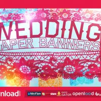 WEDDING PAPER BANNERS – FREE AFTER EFFECTS PROJECT (VIDEOHIVE)