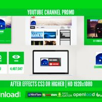 YOUTUBE CHANNEL PROMO – FREE AFTER EFFECTS PROJECT (VIDEOHIVE)