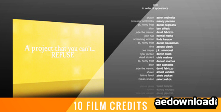 10 Film Credits