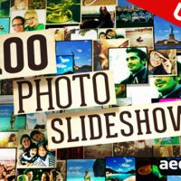 100 PHOTO SLIDE SHOW – AFTER EFFECTS PROJECT (VIDEOHIVE)