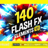 VIDEOHIVE 140 FLASH FX ELEMENTS – AFTER EFFECTS PROJECTS