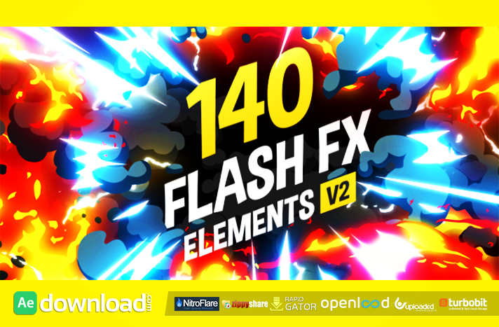 VIDEOHIVE 140 FLASH FX ELEMENTS - AFTER EFFECTS PROJECTS