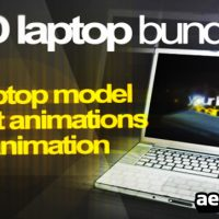 3D LAPTOP ANIMATION BUNDLE – AFTER EFFECTS PROJECT (VIDEOHIVE)