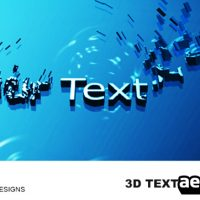 3D-TEXT EVOLUTIONS – AFTER EFFECTS PROJECT (VIDEOHIVE)