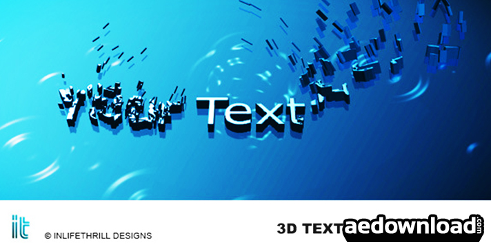3D-TEXT EVOLUTIONS - AFTER EFFECTS PROJECT (VIDEOHIVE) - Free After ...
