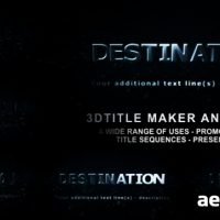 3D TITLE MAKER ANIMATOR II – AFTER EFFECTS PROJECT (VIDEOHIVE)