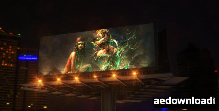 Billboard In Night City