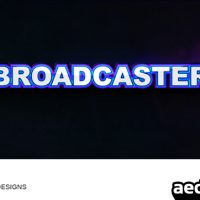 BROADCASTER – AFTER EFFECTS PROJECT (VIDEOHIVE)