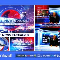 BROADCAST DESIGN – COMPLETE NEWS PACKAGE 3 – AFTER EFFECTS PROJECT (VIDEOHIVE)