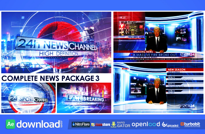 Videohive Broadcast Design News Package  Free Download
