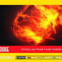BURNING LOGO REVEAL – AFTER EFFECTS PROJECT (VIDEOHIVE)