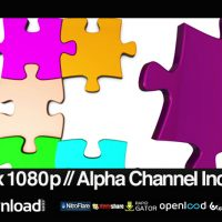COLORFUL JIGSAW PUZZLE COMING TOGETHER – MOTION GRAPHIC (VIDEOHIVE)