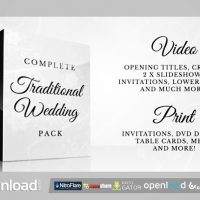 COMPLETE TRADITIONAL WEDDING PACK – AFTER EFFECTS PROJECT (VIDEOHIVE)