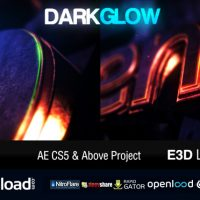 DARK GLOW LOGO REVEAL VIDEOHIVE FREE DOWNLOAD