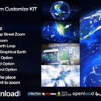 Videohive Earth Zoom Customize 6451983