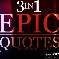 EPIC QUOTES 3IN1 – AFTER EFFECTS PROJECT (VIDEOHIVE)