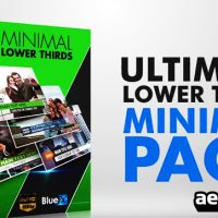 ULTIMATE LOWER THIRD MINIMAL PACK – AFTER EFFECTS TEMPLATE (BLUEFX)
