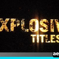 EXPLOSIVE TITLES TRAILER HD – AFTER EFFECTS PROJECT (VIDEOHIVE)