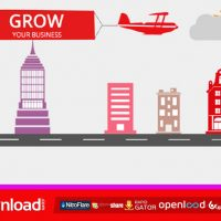 FLAT CORPORATE MOTION DESIGN – FREE AFTER EFFECTS PROJECT (VIDEOHIVE)