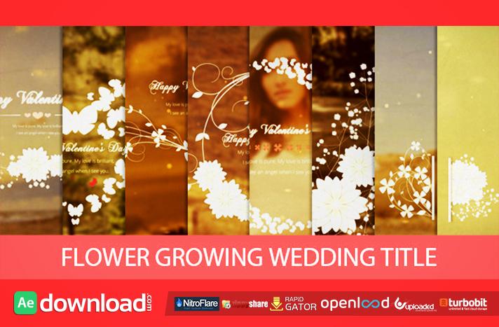 Flower Growing Wedding Title