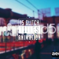 GLITCH TITLES – AFTER EFFECTS TEMPLATE (POND5)