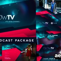 GLOW TV BROADCAST PACKAGE – AFTER EFFECT PROJECT (VIDEOHIVE)