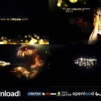 GOLD PARTICLES PHOTO AND POSTCARD OPENER – AFTER EFFECTS PROJECT (VIDEOHIVE)