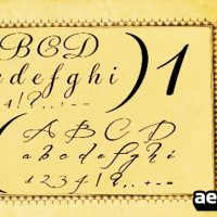 HANDWRITING FONTS – AFTER EFFECTS PROJECT (VIDEOHIVE)