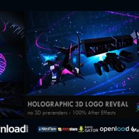 HOLOGRAPHIC 3D LOGO REVEAL – FREE AFTER EFFECTS PROJECT (VIDEOHIVE)