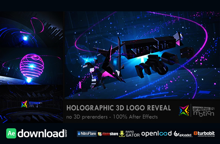 Holographic 3D Logo Reveal