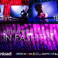 IN FASHION – FREE AFTER EFFECTS PROJECT (VIDEOHIVE)